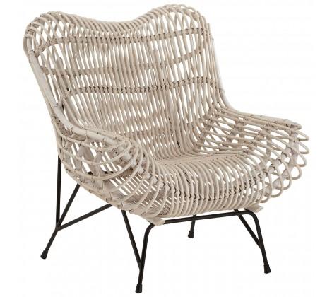 Monochrome Rattan Occasional Chair
