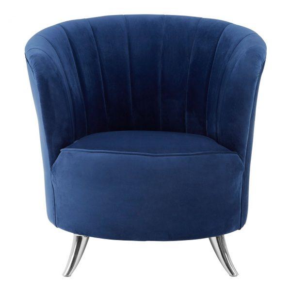 Ribbed Blue Tub Chair