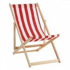 Classic Striped Deck Chair