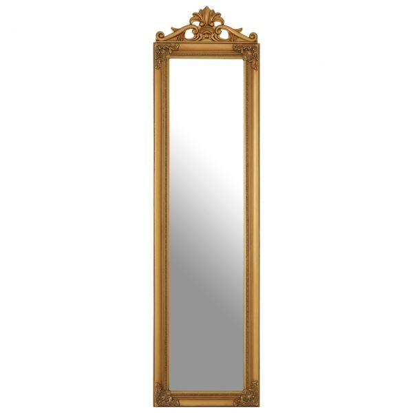 GOLD FINISH FRENCH STYLE FLOOR MIRROR