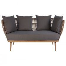 GREY TWO SEAT CONSERVATORY SOFA