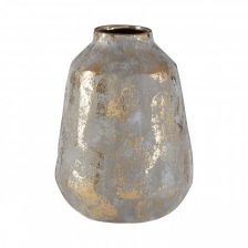 MEDIUM GOLD AND GREY VASE