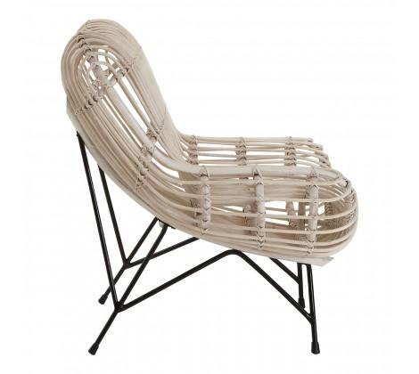 monochrome rattan occasional chair 2