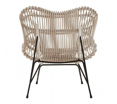 monochrome rattan occasional chair 3