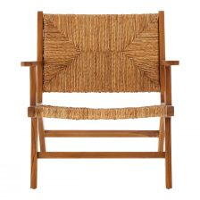 NATURAL WOOD ARMCHAIR