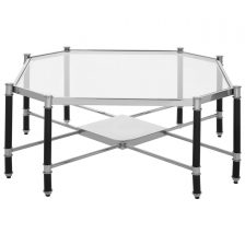 TEMPERED GLASS OCTAGONAL COFFEE TABLE