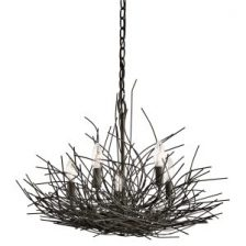 BLACK ORGANIC TWIG CHANDELIER