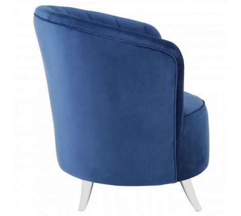 ribbed blue tub chair 1