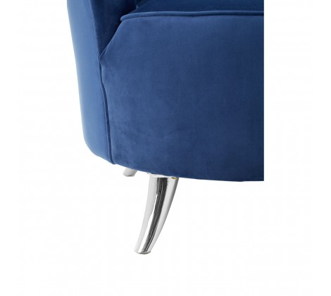 ribbed blue tub chair 3