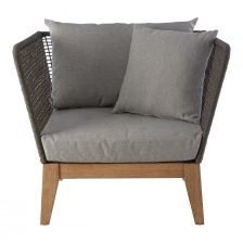 GREY ROPE ARMCHAIR