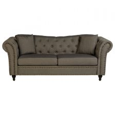 Studded Chesterfield 3 Seat Sofa