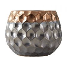 TRENDY GEOMETRIC METALLIC VASE