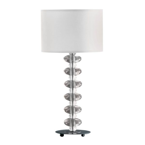 CLEAR ACRYLIC BOBBLE CONTEMPORARY LAMP