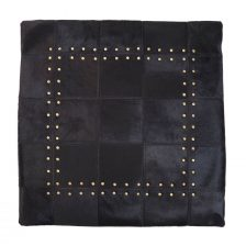 GENUINE SUEDE LEATHER PATCH CUSHION