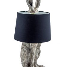 HARE TABLE LAMP IN ANTIQUE SILVER FINISH