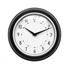 SMALL TRADITIONAL ROUND BLACK WALL CLOCK