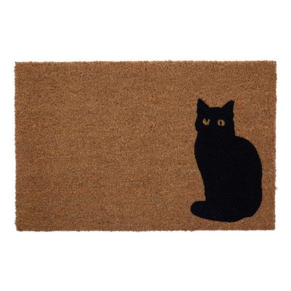 COCONUT DOORMAT WITH CAT EMBLEM