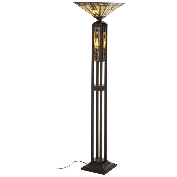 DECO STYLE MULTICOLOURED TIFFANY FLOOR LAMP