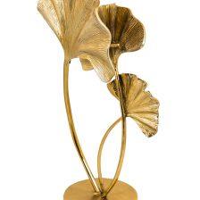 LARGE GOLD GILDED GINKGO LEAF TABLE LAMP