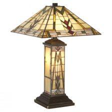 DECO STYLE MULTICOLOURED TIFFANY TABLE LAMP
