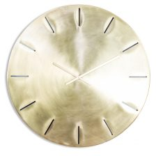 EXTRA LARGE BRUSHED BRASS METAL WALL CLOCK