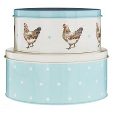 ROUND COUNTRYSTYLE SET OF CAKE TINS