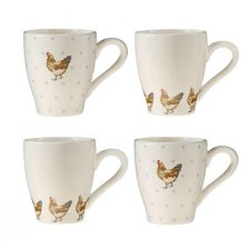 COUNTRYSTYLE SET OF THE FOUR MUGS