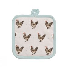COUNTRYSTYLE WHITE COTTON POT HOLDER