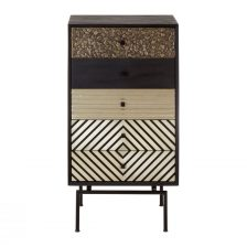 ECLECTIC BOHO STYLE MULTI-PATTERNED FIVE DRAWER