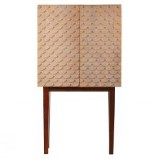 ART DECO CABINET WITH SCALES MOTIF AND FOUR INTERNAL COMPARTMENTS