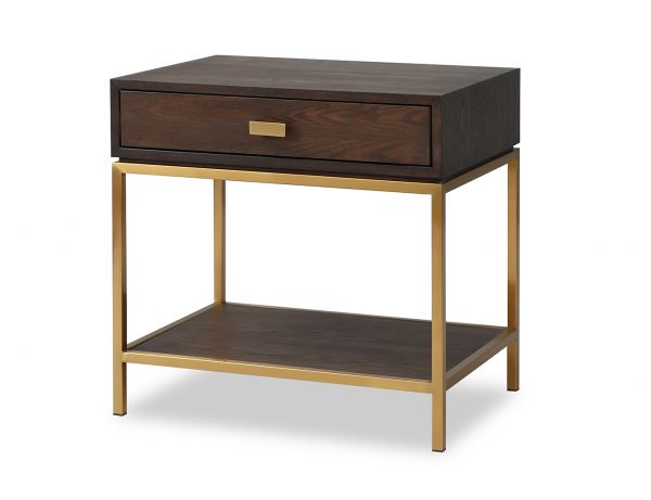CONTEMPORARY DARK BROWN LEVI LIANG BEDSIDE